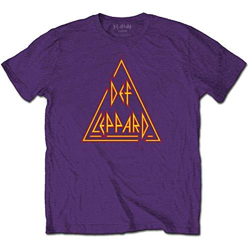 T-Shirt # Xxl Unisex Purple # Classic Triangle Logo