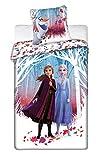 Disney Frozen 2 Girls Twin Bed Set - Frozen Queen Duvet Cover 55x78 in and Pillowcase 25x25 in