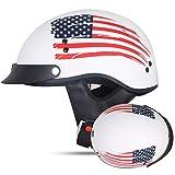 Sommer-Motorradhelm ohne Sonnenhut, Retro-Motorrad-Motocross-Halbhelm, Piloten-Scooter-Helm weiß us...