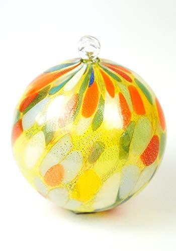Palla di natale multicolore foglia oro 24kt in vetro soffiato Murano