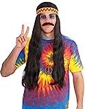 Forum Novelties Men's Hippie Dude Headband Long Costume Wig