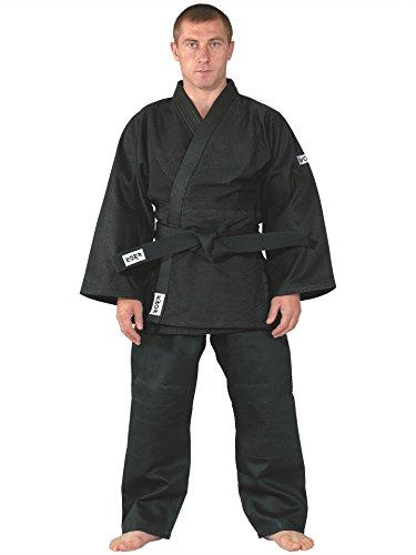 KWON Judoanzug Training schwarz, mittelschwer 180