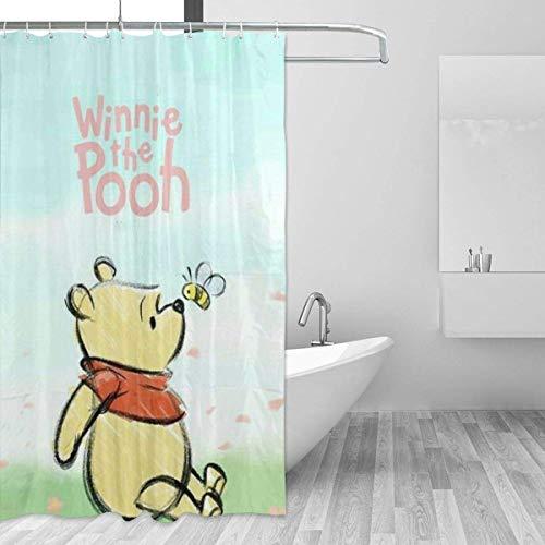 FFull-BAtttery-Shop Badezimmer Duschvorhang Winnie The Pooh Home Decor Duschvorhänge mit Haken