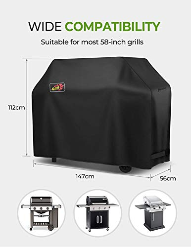 OMORC BBQ Cover, 3-4 Burner Grill Cover Waterproof and Heavy Duty Barbecue Cover Fits Weber, Char Broil etc.600D Oxford…
