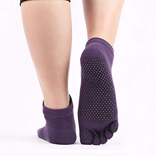 Angusshop Antiderrapante Outono Desportos de Inverno Yoga Meias Toe Fitness Cinco Dedos Pilates Yoga Ginásio Silicone Antideslizante Meias respiráveis
