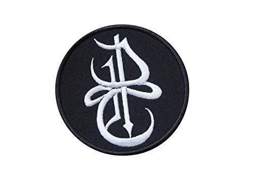 NWOBHM - Martillo de engorde séptico melódico con llamas (metal), color negro