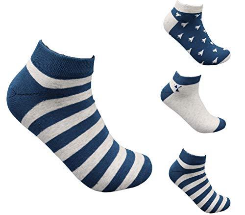 Trendcool Herren-Socken, 100 % Baumwolle, Größe 40-46, 3er-Pack, einfarbig, bedruckt, Cartoon-Socken, hohe Farben, Socken aus Baumwolle, für den Winter, mehrfarbig One size
