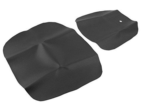 Sitzbankbezug + Beifahrer Sitzbezug (Set!/Carbon-Look) Aprilia RS 125 (Baujahr 1999-2006)