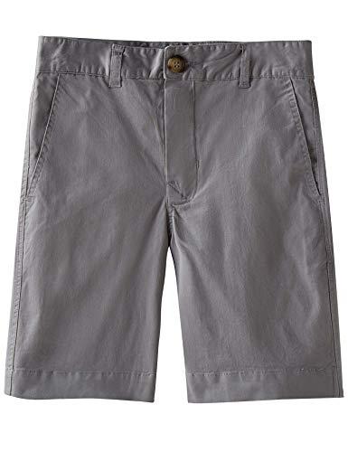 Spring&Gege Jungen Chino Shorts Baumwolle Kurze Hose Sommer Shorts für Kinder, Silber, 116-122