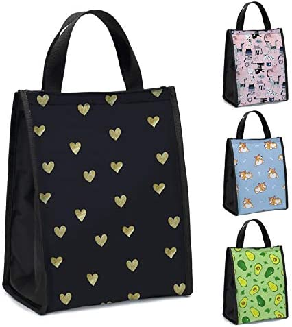 Lunch Bag for Women Deanfun Insulated Lunch Zipper Box Portable Reusable Lunch Tote Cooler Bag product image