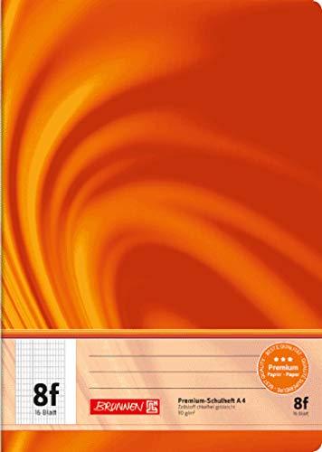 Brunnen 104470802 Schulheft A4 Vivendi (16 Blatt, rautiert, mit Rand, Lineatur 8f)