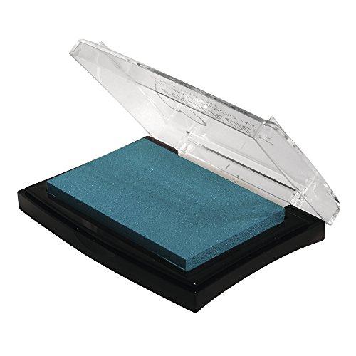 Rayher Hobby 29017390 Tsukineko Versa Color Pigment-Stempelkissen, lagune, 9,6 x 6,3 x 1,8 cm, Tinte auf Wasserbasis