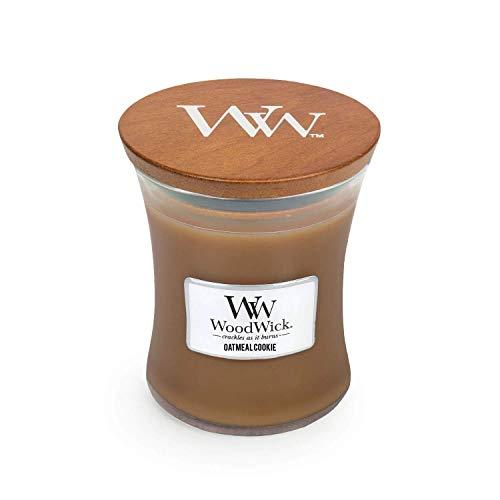 WoodWick Medium Hourglass jar Candle, Light Brown