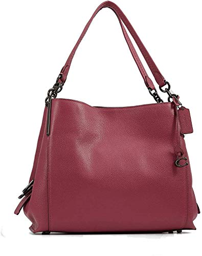 COACH Polished Pebble Leather Dalton 31 Shoulder Bag (Dusty Pink)