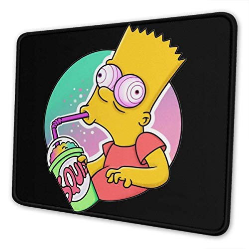 Bart-Simpson The Mouse Pad is Soft and Non-Slip, Suitable for Office, Family, Gamers 2530cm