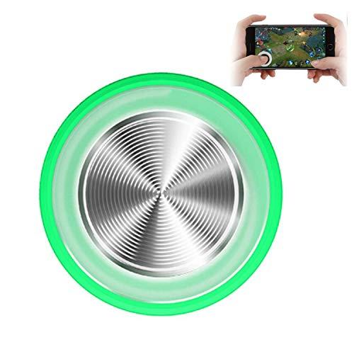 LWRhome Juego Redondo Joystick Controlador de Pantalla táctil Joypad, Mini Sucker Cup Game Rocker Gamepad para Tableta de teléfono móvil (Verde)