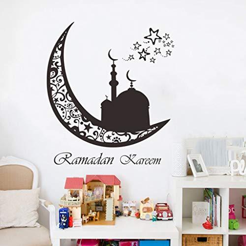 Vorhang Stern kronleuchter Ramadan Festival Wandaufkleber Wohnzimmer Dekoration Wandbild Kunst Decals Hause Aufkleber tapete