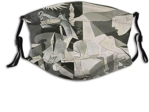 YRUI Guernica Picasso - Máscara facial transpirable para adultos, para el cuello, bufanda facial, cortavientos, transpirable, pesca, senderismo, correr, ciclismo