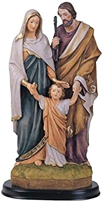 George S. Chen Imports SS-G-212.07 Holy Family Jesus Mary Joseph Religious Figurine Decoration, 12""
