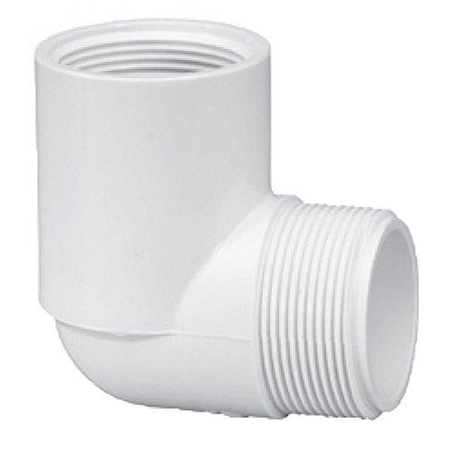 Lasco 412-015 3,81 cm MPT x3,81 cm 90 degrés SCH FPT 40 PVC Coude 412015