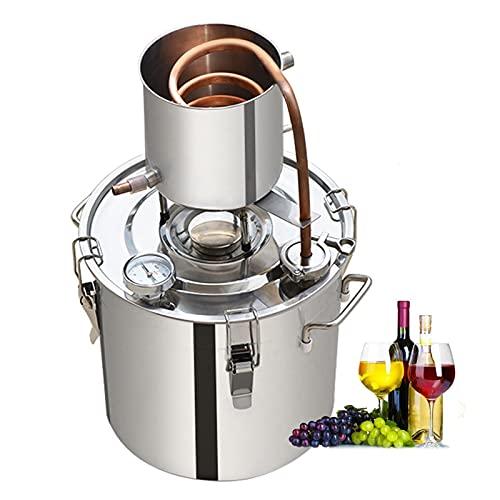 LTLWSH Kit de destilación de para el hogar destilador de Cobre para la elaboración casera de Vino, Alcohol, Cerveza o destilación de Agua,50L
