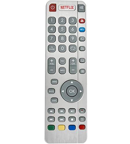ALLIMITY SHW/RMC/0116 SHW/RMC/0117 Fernbedienung Ersetzt für Sharp Aquos 3D HD Smart Freeview TV with YouTube Netflix NET+ Buttons