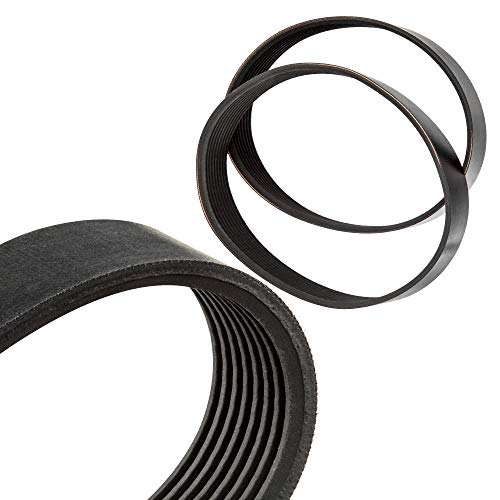 Treadmill Drive Belts Set Fits - Pro Form 285T Treadmill 6Pj508 - High Strength Rubber Belts - Replacement Drive Belt - Made In The USA - Motor Ribbed Drive Belt