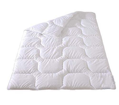 Frankenstolz Microfaser Duo- Steppbett Kochfest Nevada 135x200 cm, warme Winter- Bettdecke waschbar bis 95°C, für Allergiker geeignet