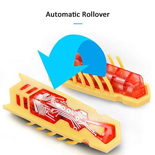 GYWL Elektrisches Haustier Spielzeug-interaktives Mini niedlichen Marienkäfer Käfer Form Katzenspielzeug Insektenspielzeug-rot