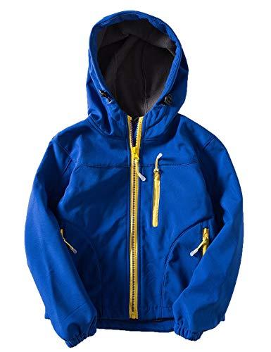 Echinodon Kinder Softshelljacke Wasserabweisend Winddicht Outdoorjacke Jungen Mädchen Wandern Freizeit Jacke Herbst Winter Blau L