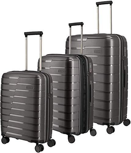 travelite 4-Rad Koffer Set Größen L/M/S mit TSA Schloss, Handgepäck erfüllt IATA-Bordgepäck Maß, Gepäck Serie AIR BASE: Funktionaler Hartschalen Trolley...