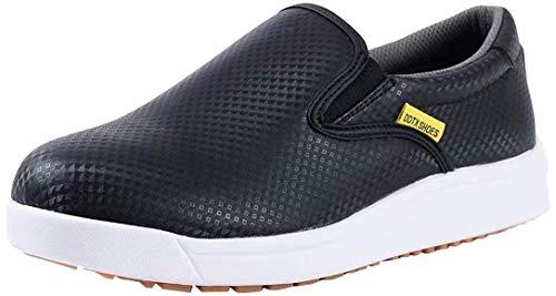 DDTX Chaussures de Cuisinier de Cuisine de Travail Unisexe SRC léger antidérapant résistant à l'eau et à l'huile Noir 42EU