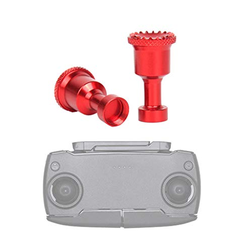 DJFEI Fernbedienung Teleskop Rocker Joystick für DJI Mavic Mini, 1 Paar Aluminium Legierung Joystick Schutzhülle Control Stick Ersatz Zubehör für DJI Mavic Mini (Rot)