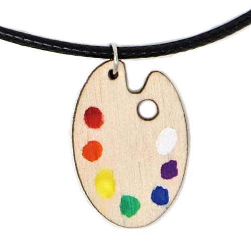 Happy Little Paint Palette New products, world's highest quality popular! Choker Hand-Painted Pendan Ranking TOP9 Necklace