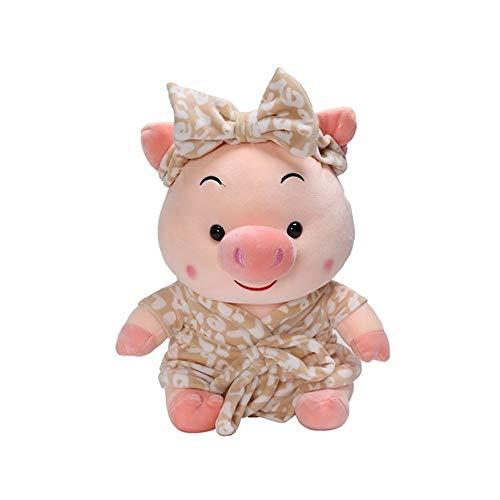 nobrand Geburtstag Kisse Kreative Bademantel Schwein Plüschtier Begleiten Kinderkissen Geburtstag-Soft-Spielzeug-Geschenk Cozy Verspielt Kissen Durable Kissen
