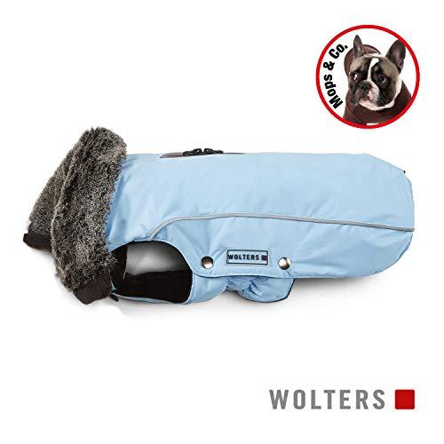 WOLTERS Wintermantel Amundsen für Mops & Bulldogge Gr. 40 Farbe Sky Blue