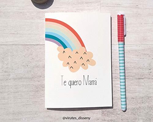 Tarjeta día de la madre Arco Iris // Envía unas palabras de amor a mamá // Dime que quieres que le escriba y en pocos días lo recibirá // Envío seguro