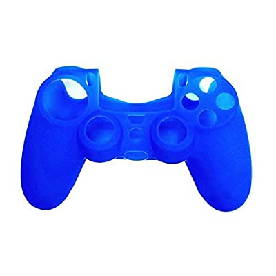 OSTENT Protective Silicone Gel Soft Case Cover Pouch Sleeve Compatible for Sony PS4 Controller - Color Blue