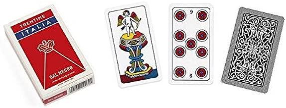 Dal Negro Trentine mazzo carte plastificate italiano di 40/carte laminati e Telate