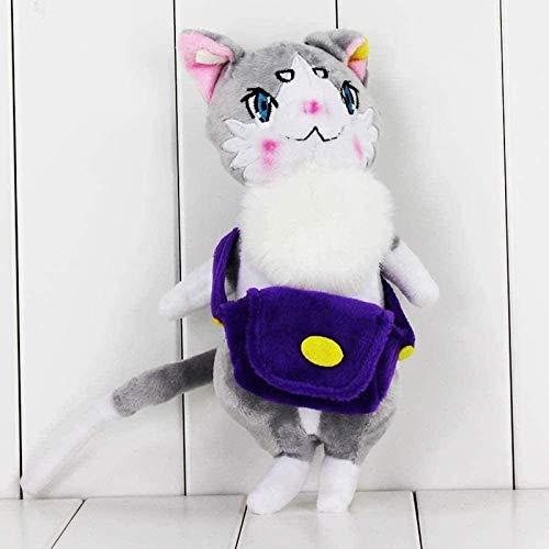 Btttqd 25 cm Körper 7 cm Schwanz Q Eishockey Plüschpuppe Spielzeug Anime von Null Emilia Soft Plüsch Tier Plüschtier