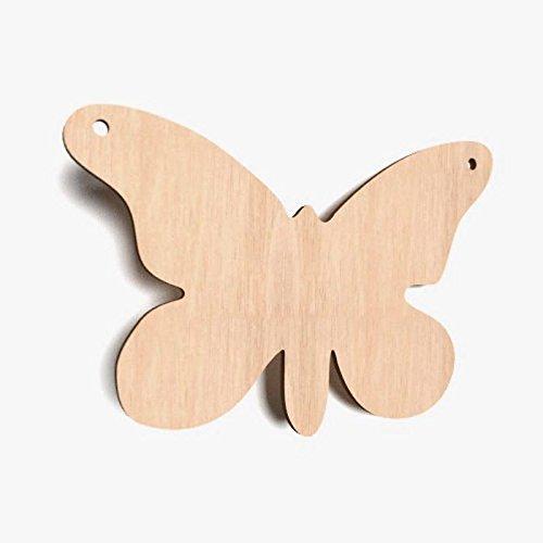 10x Schmetterling blank Form Holz Basteln Bemalen Dekoration Wohnen