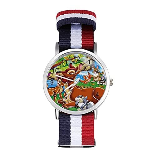 Los relojes Bambi son impermeables, versátiles, informales, estudiantes, hombres y mujeres, deportes, moda y temperamento simple anime dibujos animados