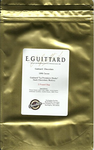 E. Guittard Chocolate - 'La Premiere Etoile' Semisweet Dark Chocolate Wafers for Baking and Eating, 58% Cocoa, Gold Bag, 2 Pounds