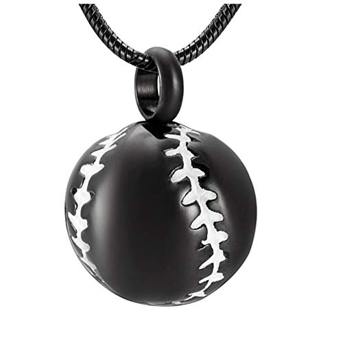 Wxcvz Keepsake Pendant Stainless Steel 20Mm Baseball Memorial Urn Jewellery Pendant Hold Cremation Keepsake Necklace For Ashes,Free Filling Kit