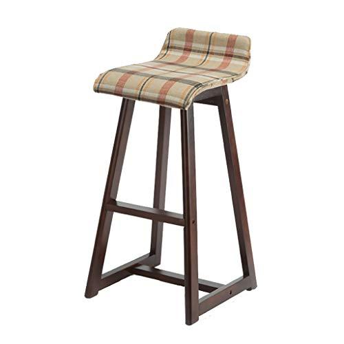 YUXO Bar Stools Counter Chair Modern Bar Stool Solid Wood Bar Stool Front Bar Chair Bar Stool Bar Stool High Stool High Chair Bar Chair High Stools for Home (Color : D)