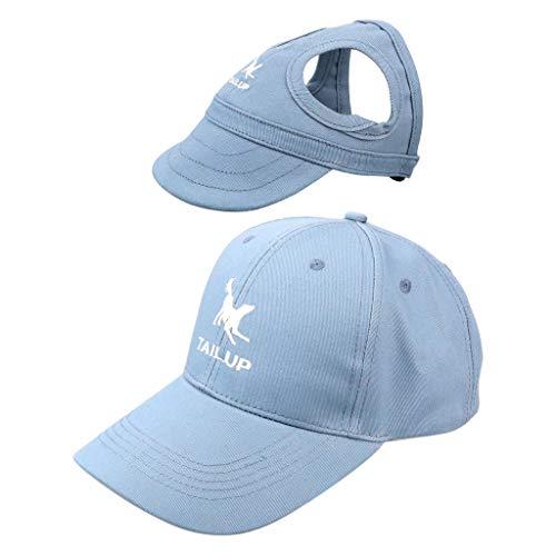 non-brand Unisex Baseball Cap mit Hunde Baseballmütze Basecap Hundecap für Züchter und Hunde - Blau, XL