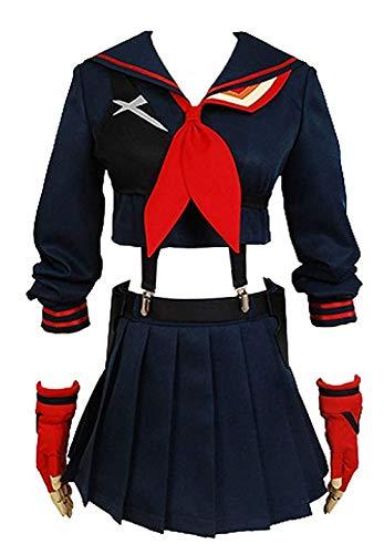 Ya-cos Halloween KILL la KILL Girl s Ryuko Matoi Dress Suit Cosplay Costume,Navy,Womens: Medium