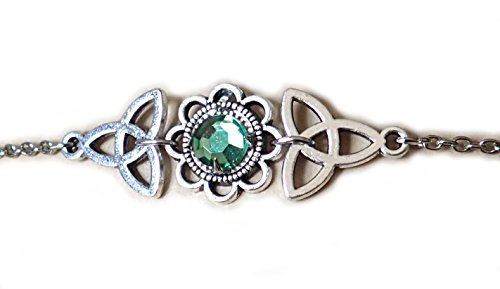 Moon Maiden Jewelry Celtic Triquetra Trinity Knot Headpiece Light Green