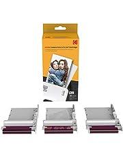 KODAK New Ink Ribbon papier fotograficzny 30 Photo Cartridge do mini drukarek fotograficznych, Shot Combo, biały, druk sublimacyjny, termosublimacja
