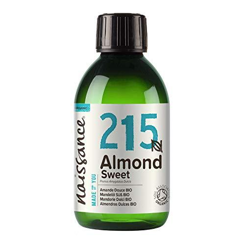 Naissance Huile d'Amande Douce BIO (n° 215) Pressée à froid – 250ml – 100% pure et certifiée BIO, végan, sans OGM – parfaite pour les massages, le soin des cheveux et de la peau